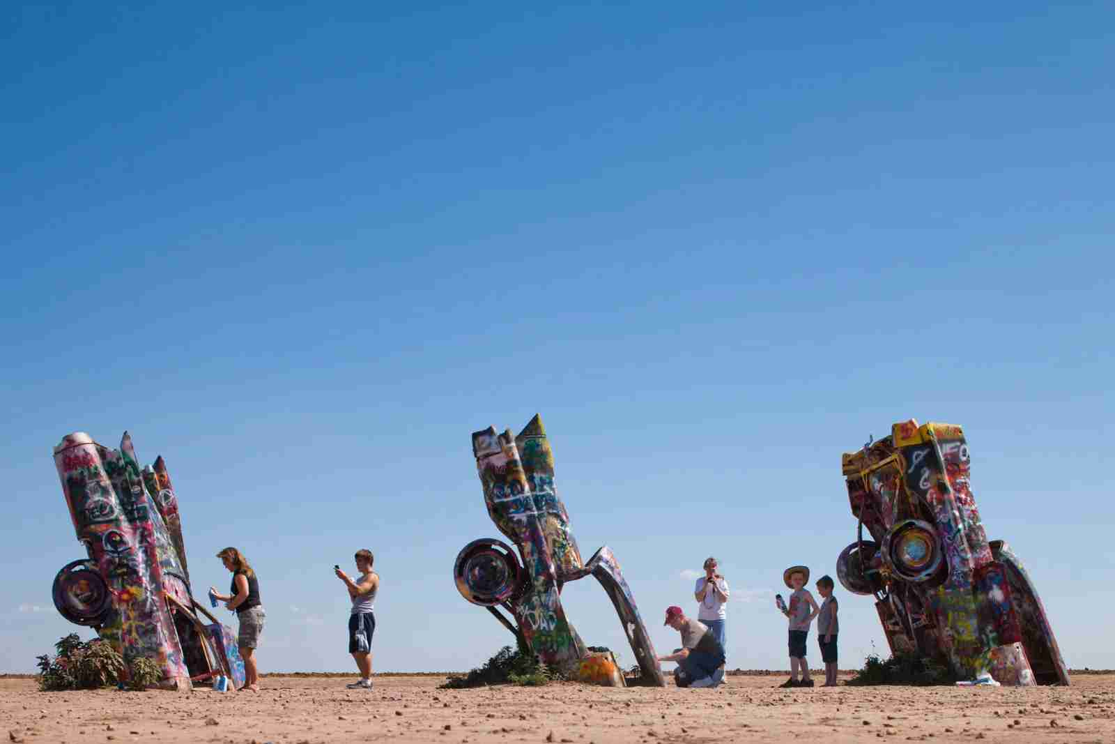 Cadillac Ranch along Interstate 40 in Amarillo. (Photo by Paul Souders/Getty Images)
