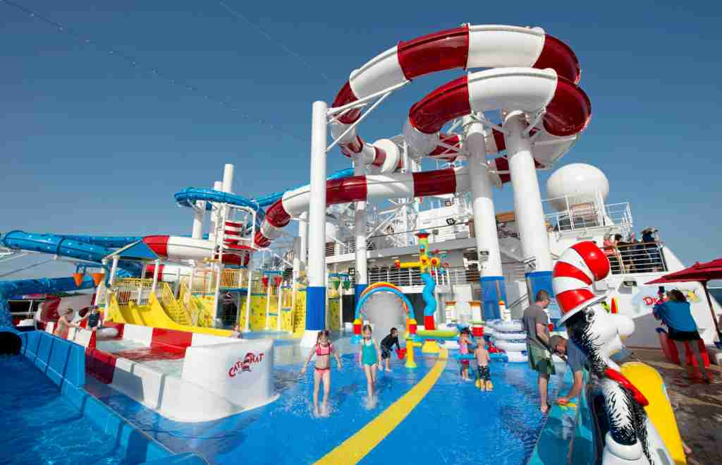 Cruise giant Carnival in 2018 added a Dr. Seuss-themed waterpark to the top of its