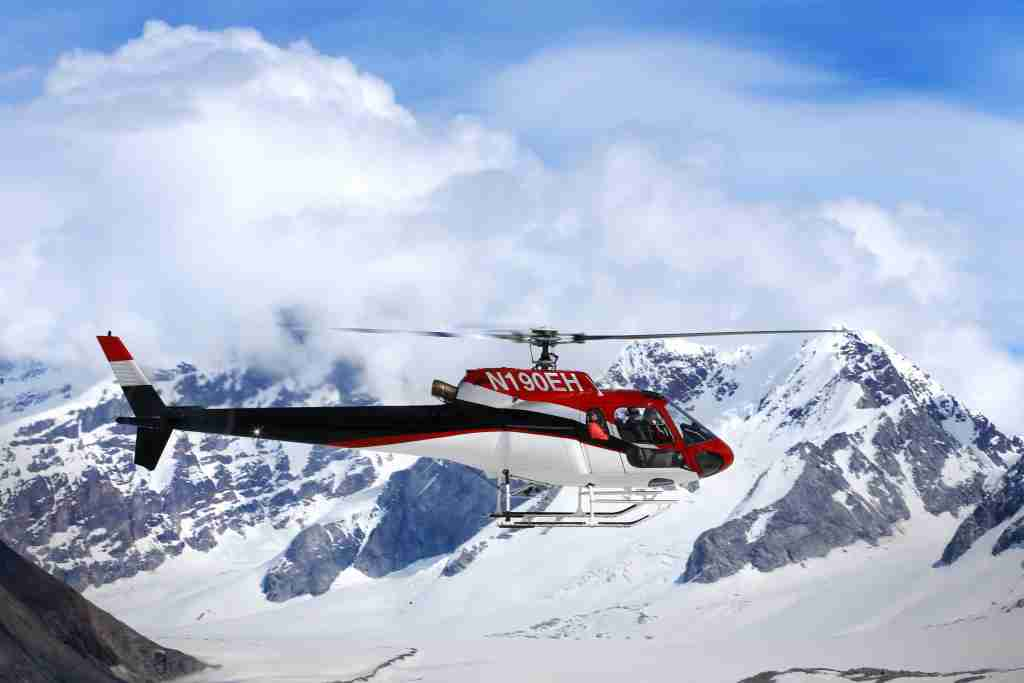A helicopter ride over the Juneau Icefield is one of the excursions available to cruisers visiting Juneau, Alaska. (Photo courtesy of Alaska Tourism)