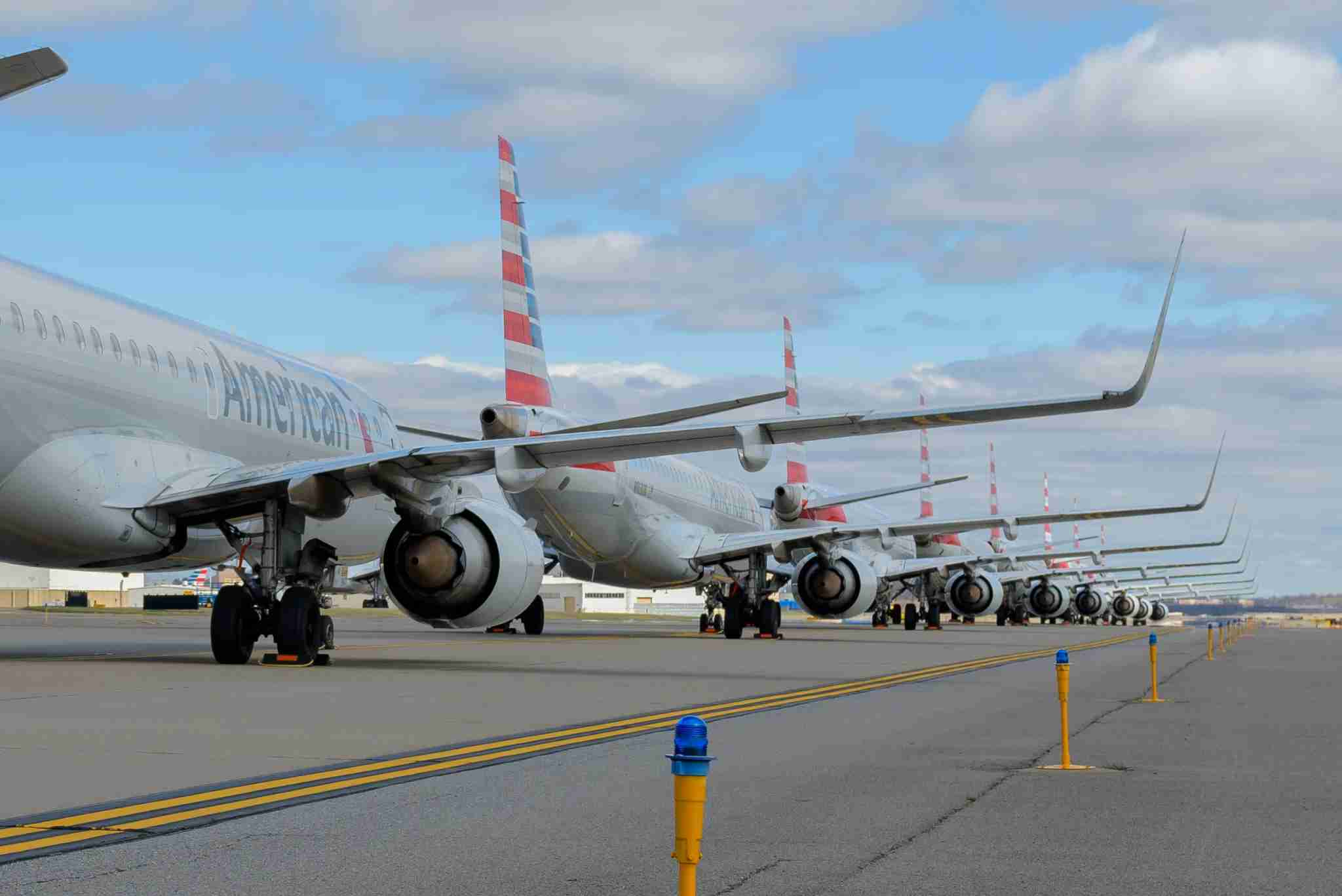 AA parked planes at various locations including Tulsa and Pittsburgh. Photos courtesy American Airlines.