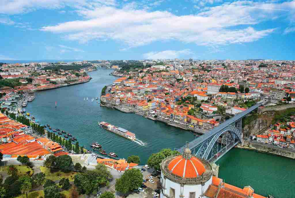 The AmaWaterways ships AmaVida sailing on the Douro River in Portugal. (Photo courtesy of AmaWaterways)