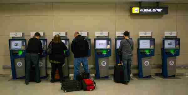 Global Entry and APC Kiosks, located at international airports across the nation, streamline the passenger's entry into the United States. (Photo by James Tourtellotte via CBP)