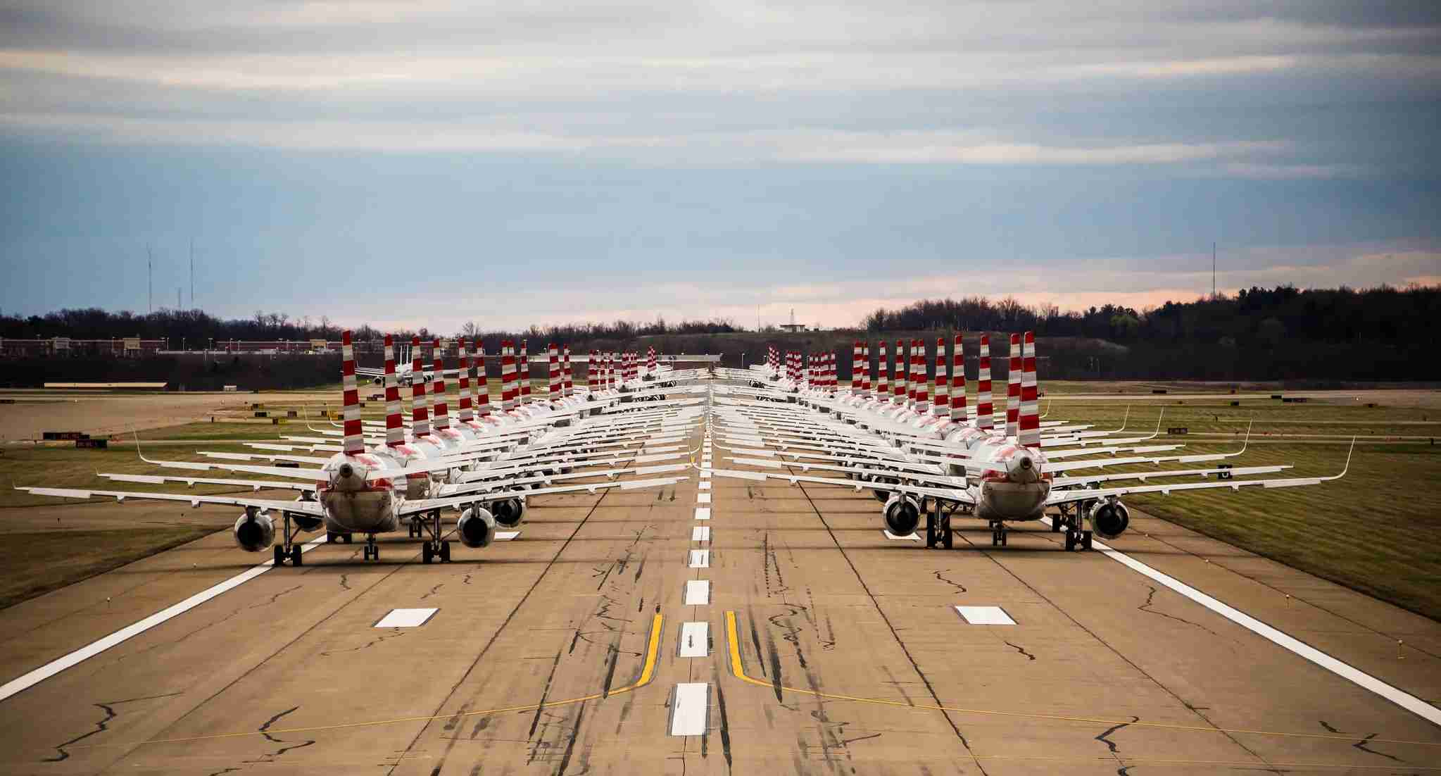 American Airlines jets parked on a runway at Pittsburgh International Airport. (Image courtesy of Pittsburgh International Airport.)
