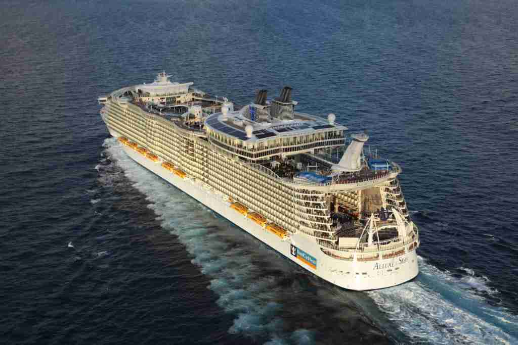Royal Caribbean's Allure of the Seas, one of the world's biggest cruise ships, was scheduled to undergo a major makeover this year. (Photo courtesy of Royal Caribbean).