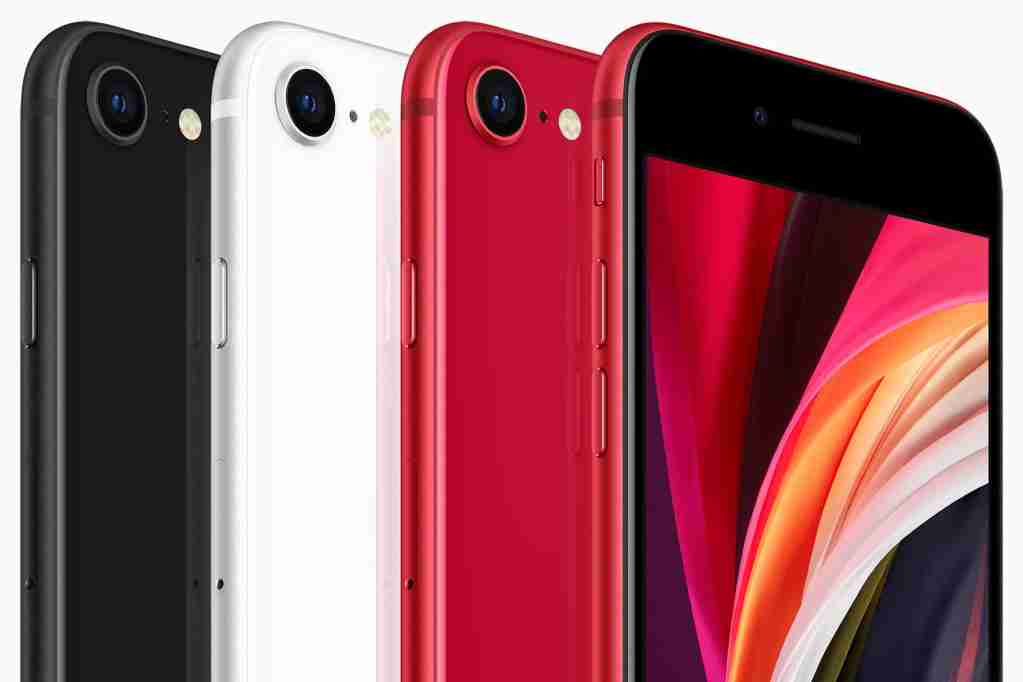 iPhone SEは、黒、白、赤で利用できます。 アップルの写真提供。