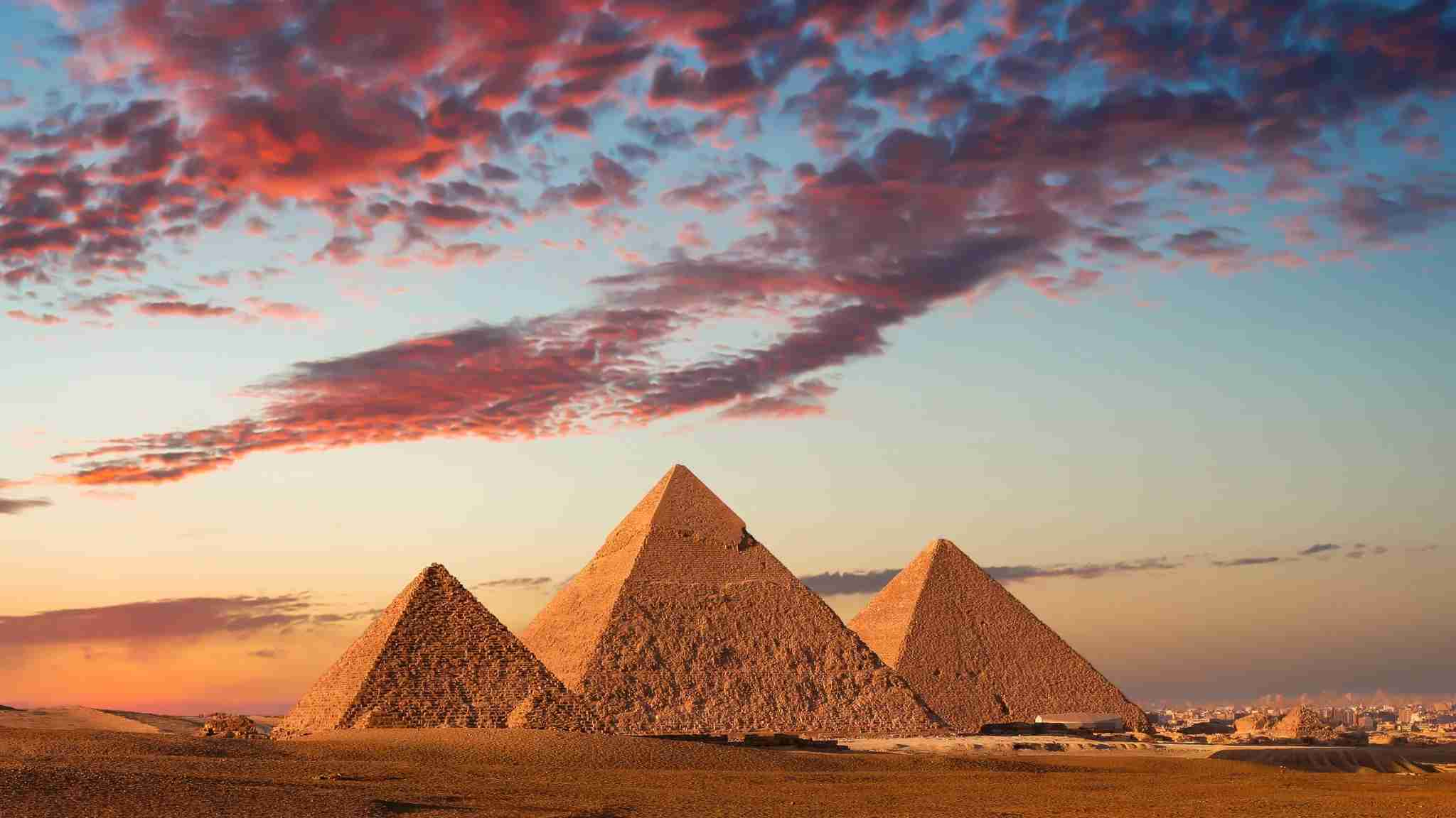 The Great Pyramids at Giza. (Photo via Getty Images)