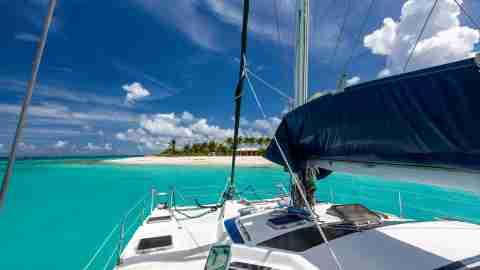 Anguilla sailboat