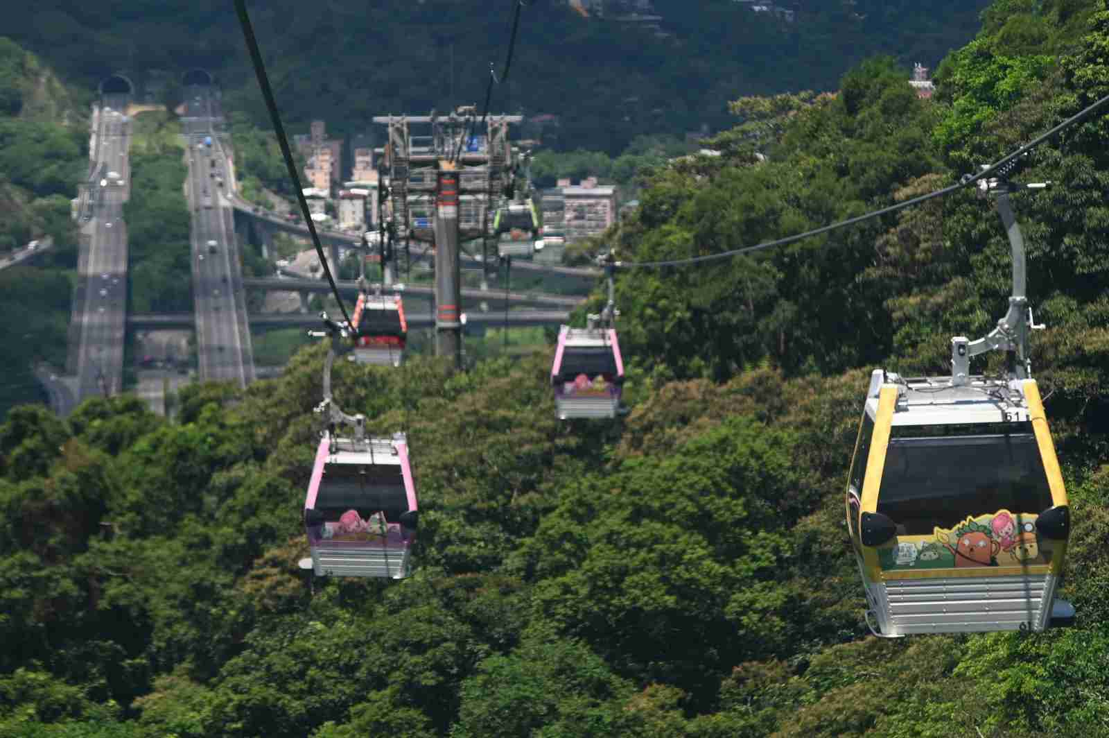 The Maokong Gondola in Taipei. (Photo by SAM YEH/AFP/Getty Images)