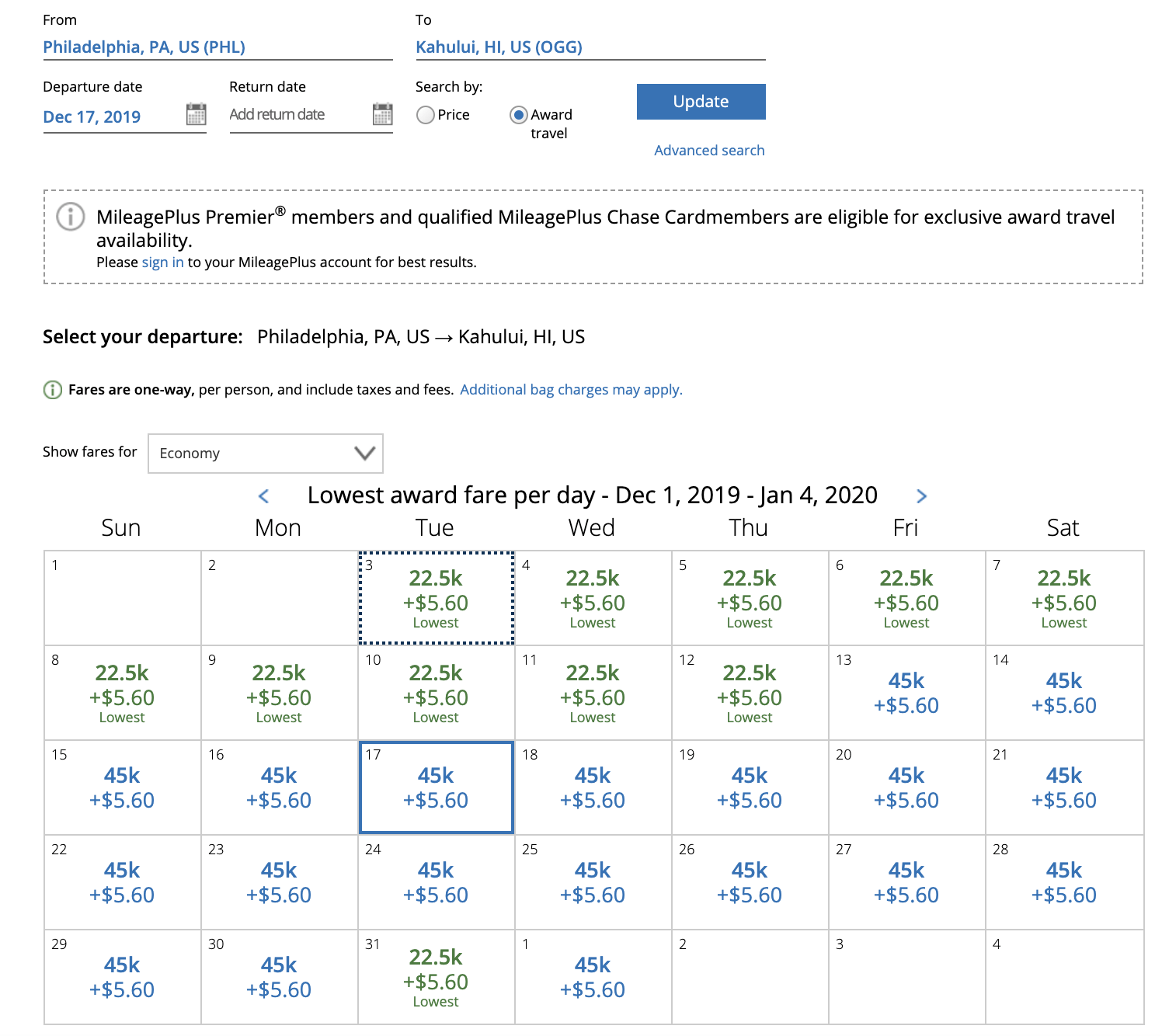 United Award Chart Is Extinct Here S What Awards Now Cost