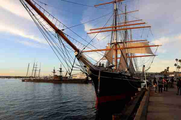 Star Of India, a full-rigged iron windjammer ship sits docked on the harbor in San Diego, California on January 14, 2018. (Photo By Raymond Boyd/Getty Images)