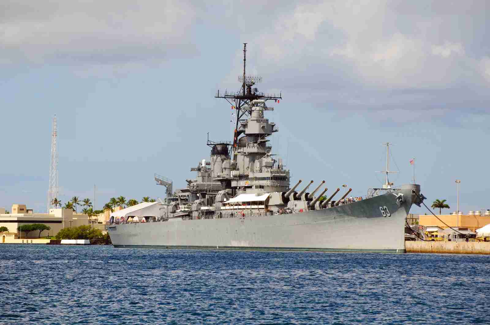 Battleship USS Missouri in Pearl Harbor, Hawaii. (Photo by Joel Carillet / Getty Images)