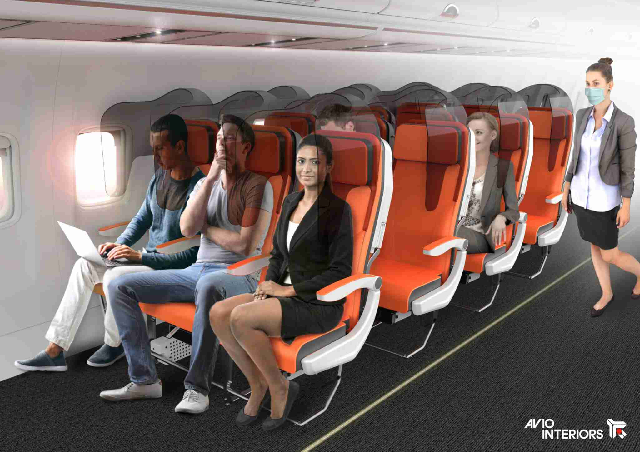 The Glassafe seat design proposed by Italian firm Aviointeriors. (Photo courtesy of Aviointeriors).