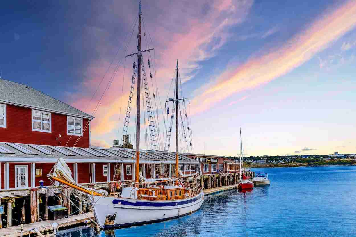Dock in Halifax with boats