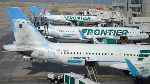 Frontier Airlines Planes at the gate in DEN