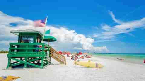 Siesta Key beach at Sarasota, Florida, USA in the Gulf of Mexico.
