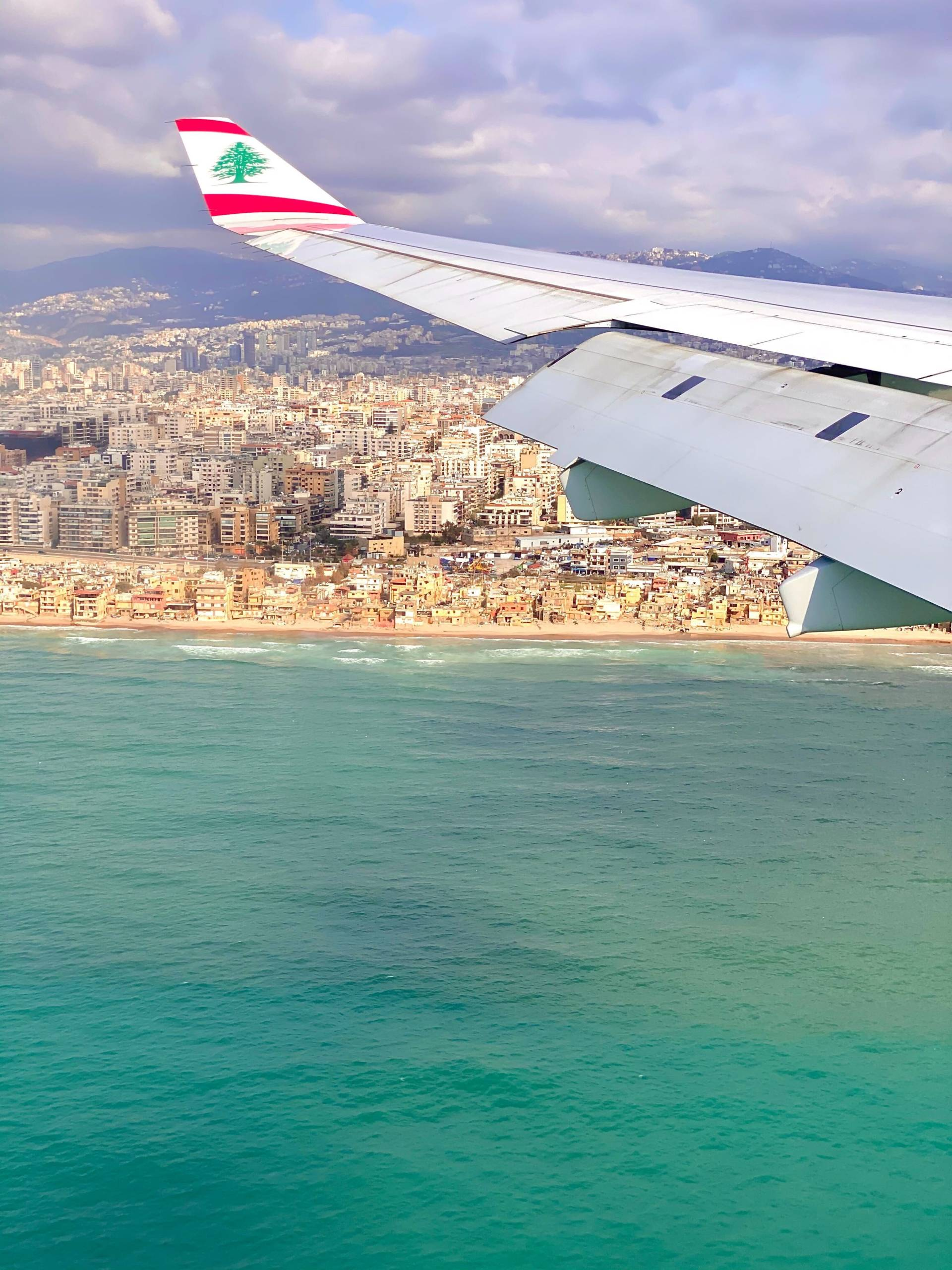 Beirut, Lebanon from the air. (Photo by Nicky Kelvin / The Points Guy)