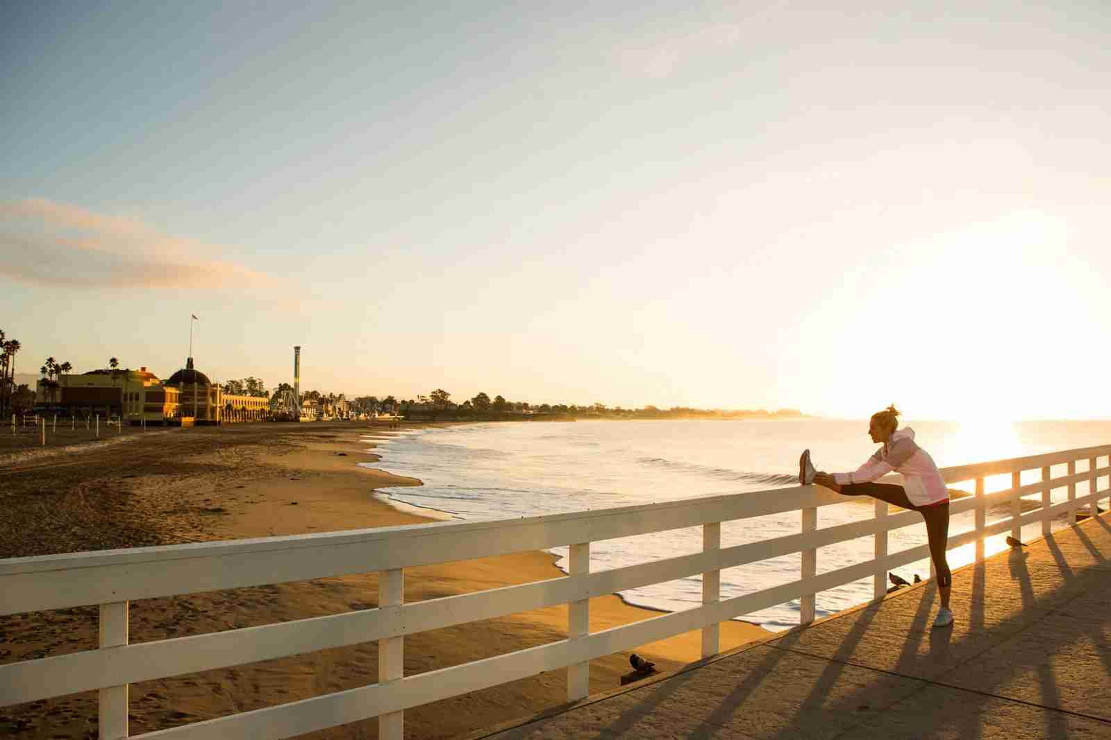 The Santa Cruz boardwalk. (Photo by Jordan Siemens/Getty Images)
