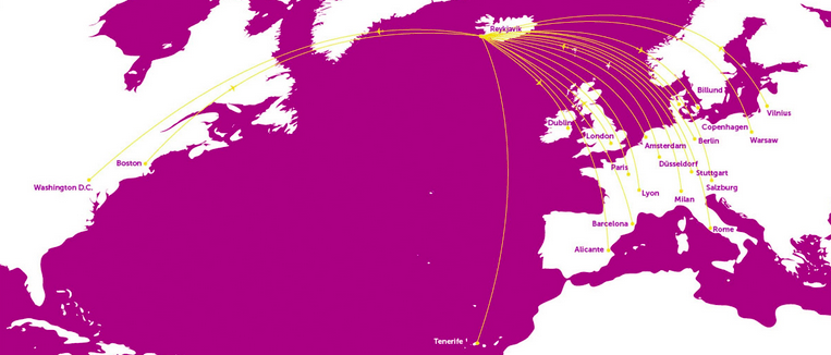 While all WOW Air flights stop in Iceland, the low-cost carrier flies to many other destinations in Europe.