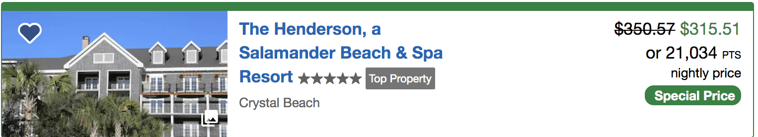 The Henderson - Destin, Florida on Chase Ultimate Rewards points
