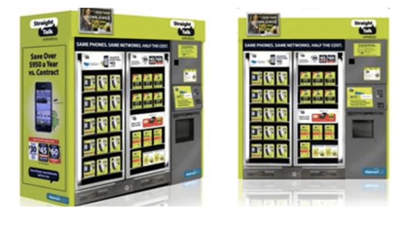 Straight Talk vending machines are located in XX U.S. airports. (Photo courtesy of Straight Talk)