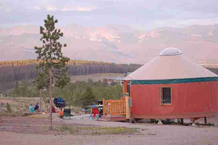 Stay with the family in a yurt (Photo courtesy of YMCA of the Rockies)