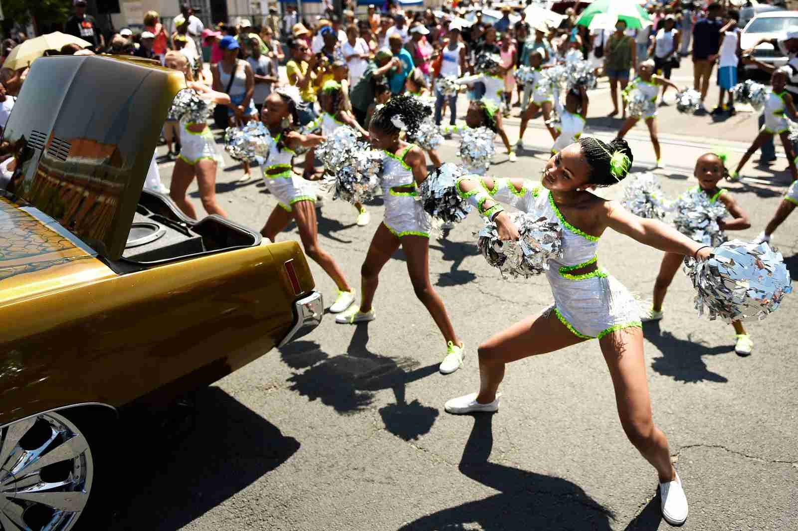 Juneteenth Celebration parade in Denver. (Photo By Joe Amon/The Denver Post/Getty Images)