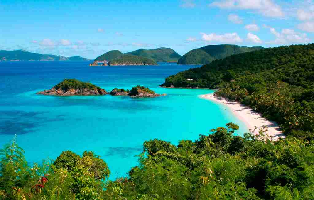 Trunk Bay on St John in US Virgin Islands