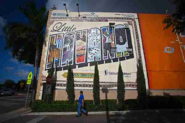 The Little Havana area of Miami. (Photo by Carlo Allegri For The Washington Post/Getty Images)