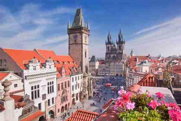 Old Town Square in Prague Czech Republic