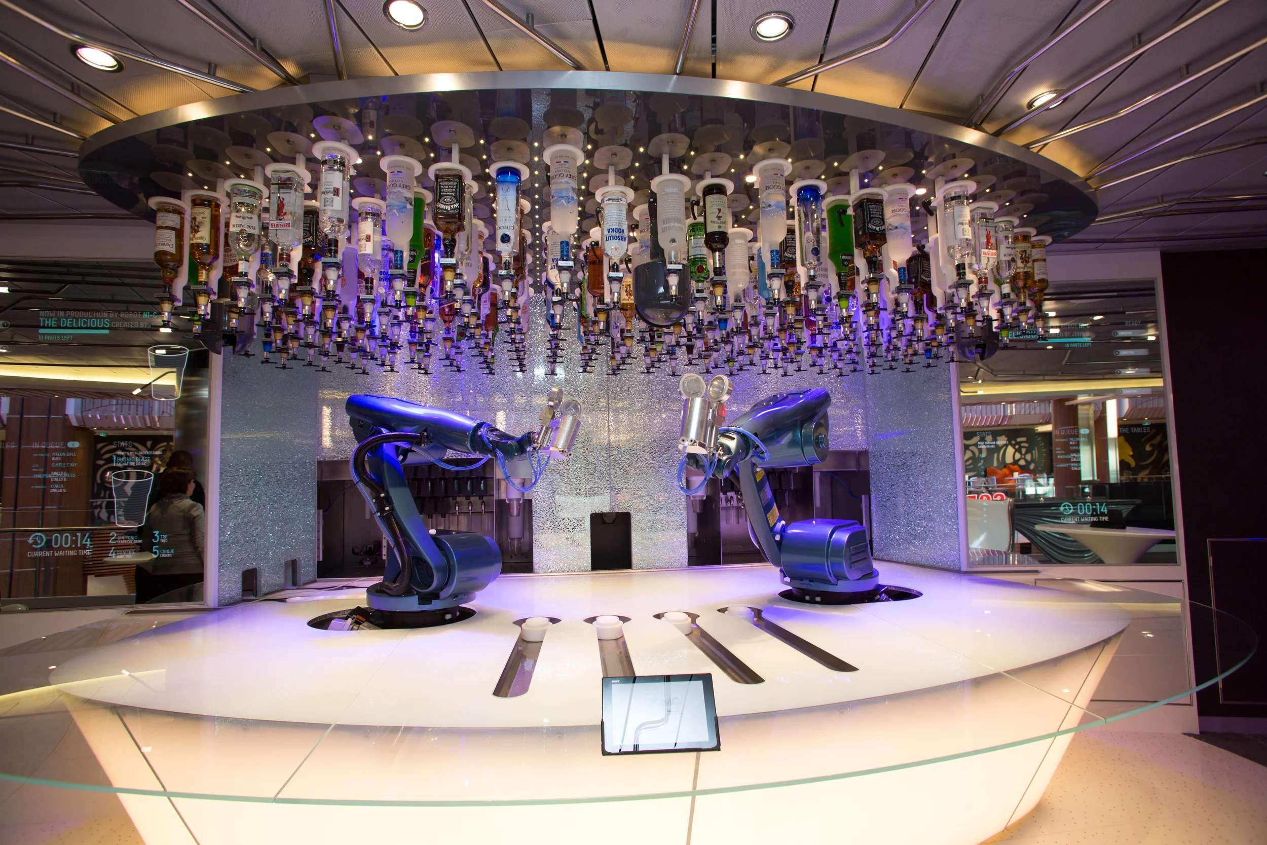 The Bionic Bar on Royal Caribbean's Quantum of the Seas. (Photo courtesy of Royal Caribbean)