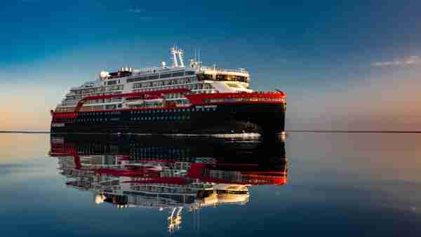 A Hurtigruten expedition ship. (Photo courtesy of Hurtigruten)