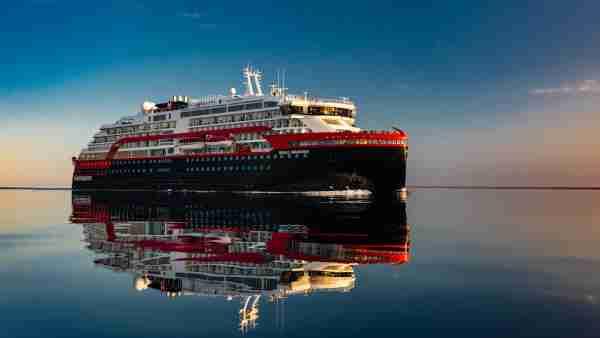 A Hurtigruten expedition ship. (Photo courtesy of Hurtigruten)