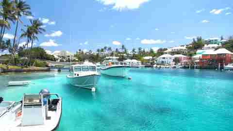 Boats on the water in Bermuda