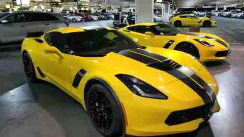 Hertz Branded Corvette Stingray Rental Car