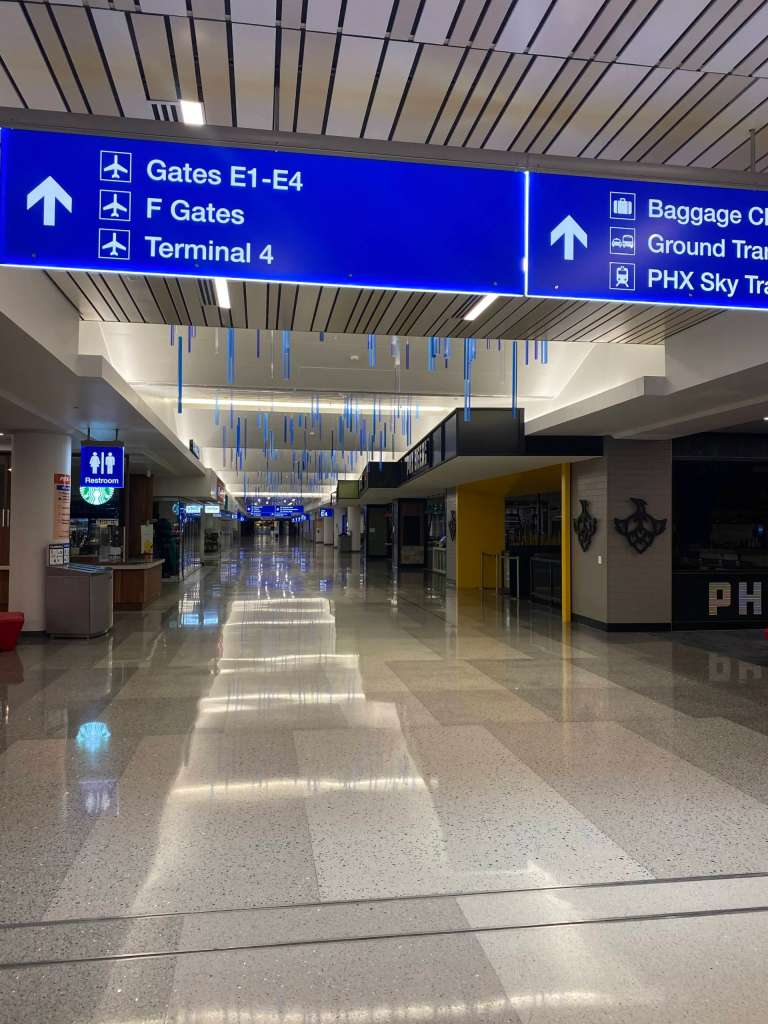 Newly constructed North Concourse in Phoenix Terminal 3.