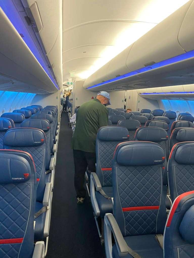 International Comfort+ cabin for Delta during pandemic