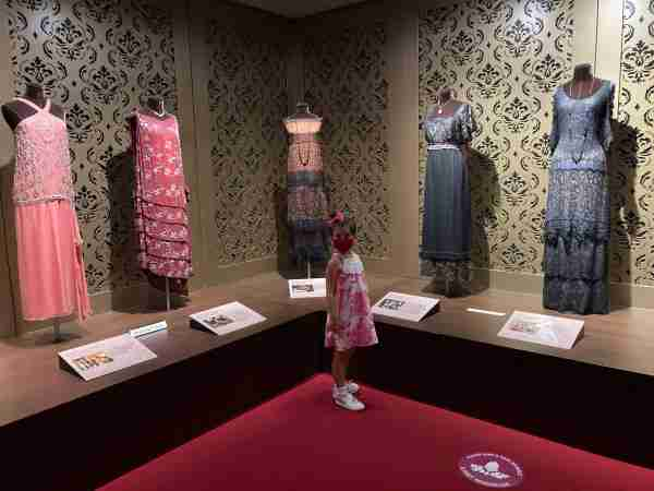 Dresses from Downton Abbey, on display at the Biltmore Estate in July 2020