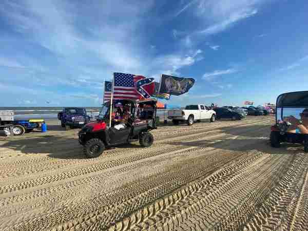 Texas beach rally