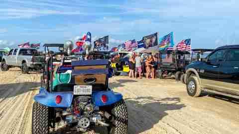 Texas rally beach