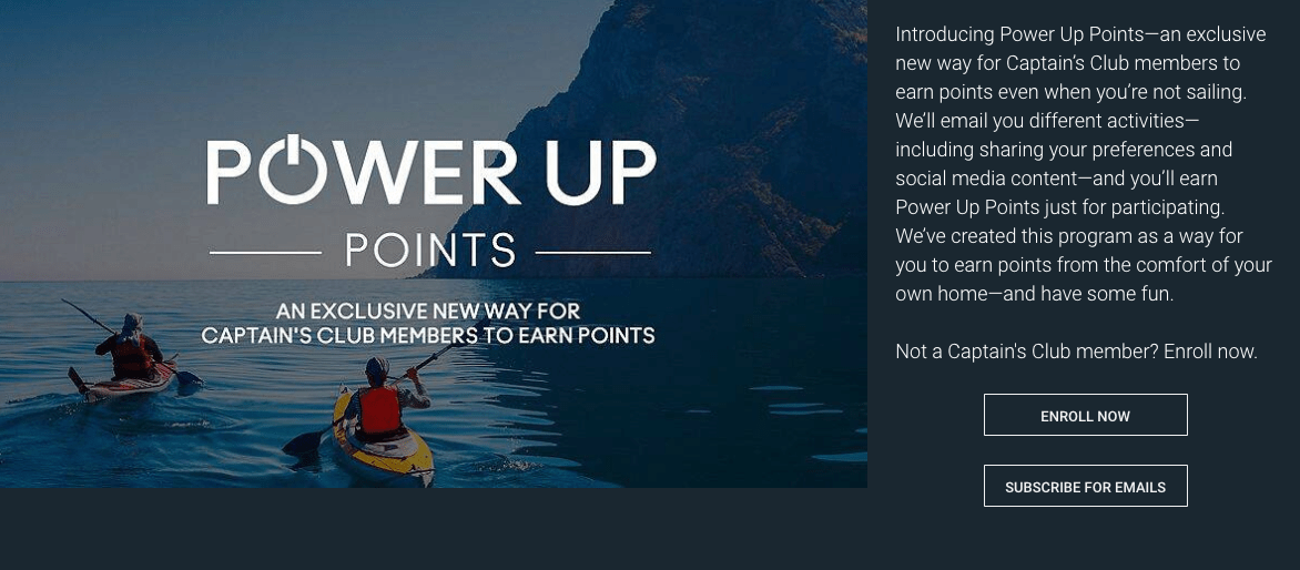 Celebrity Cruises Power Up Points program