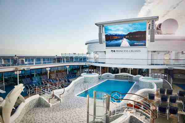 Princess Cruises ships are topped with lots of pool and sunning areas. (Photo courtesy of Princess Cruises)