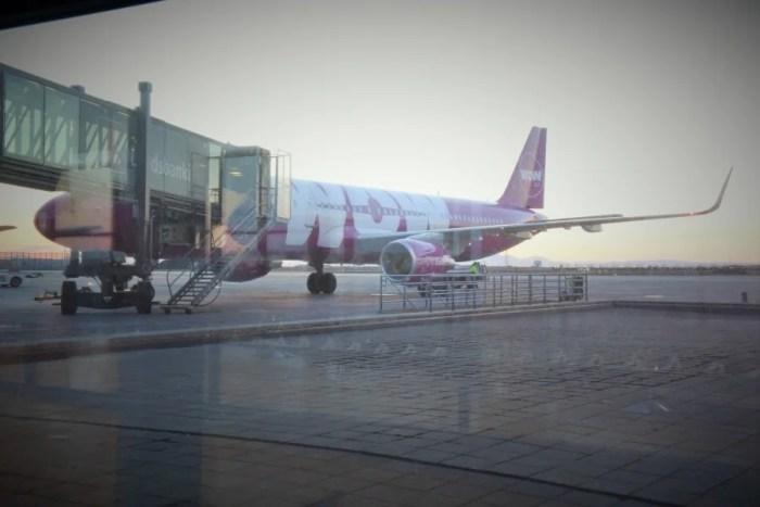 WOW plane at Keflavik International (KEF).