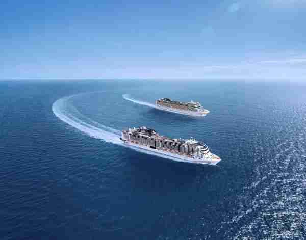 MSC Bellissima and MSC Grandiosa. (Photo courtesy of MSC Cruises)