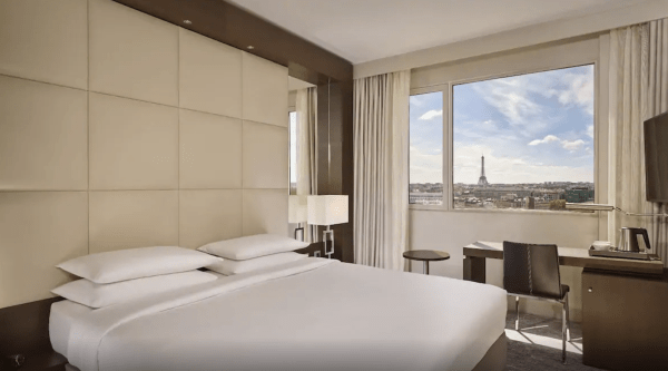 The Hyatt Regency Paris Etoile has rooms and suites with Eiffel Tower views. (Photo courtesy of Hyatt)