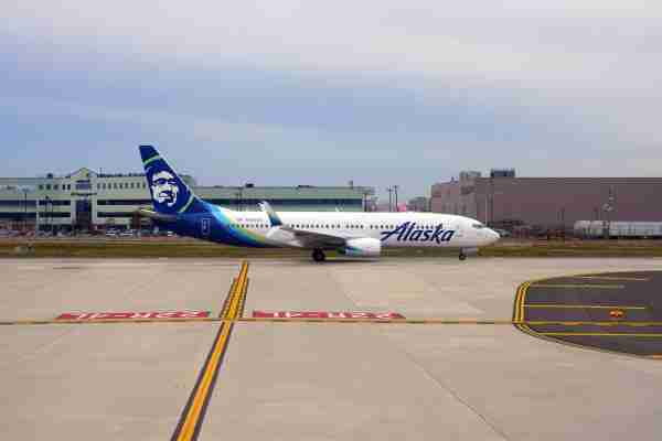 Alaska Airlines plane at JFK