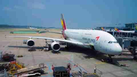 Asiana A380 at ICN Airport