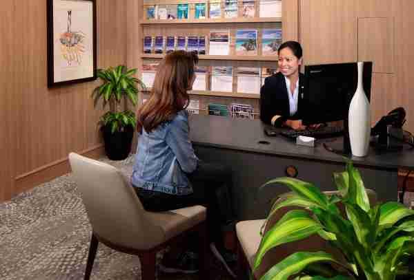 concierge desk aboard Celebrity Silhouette