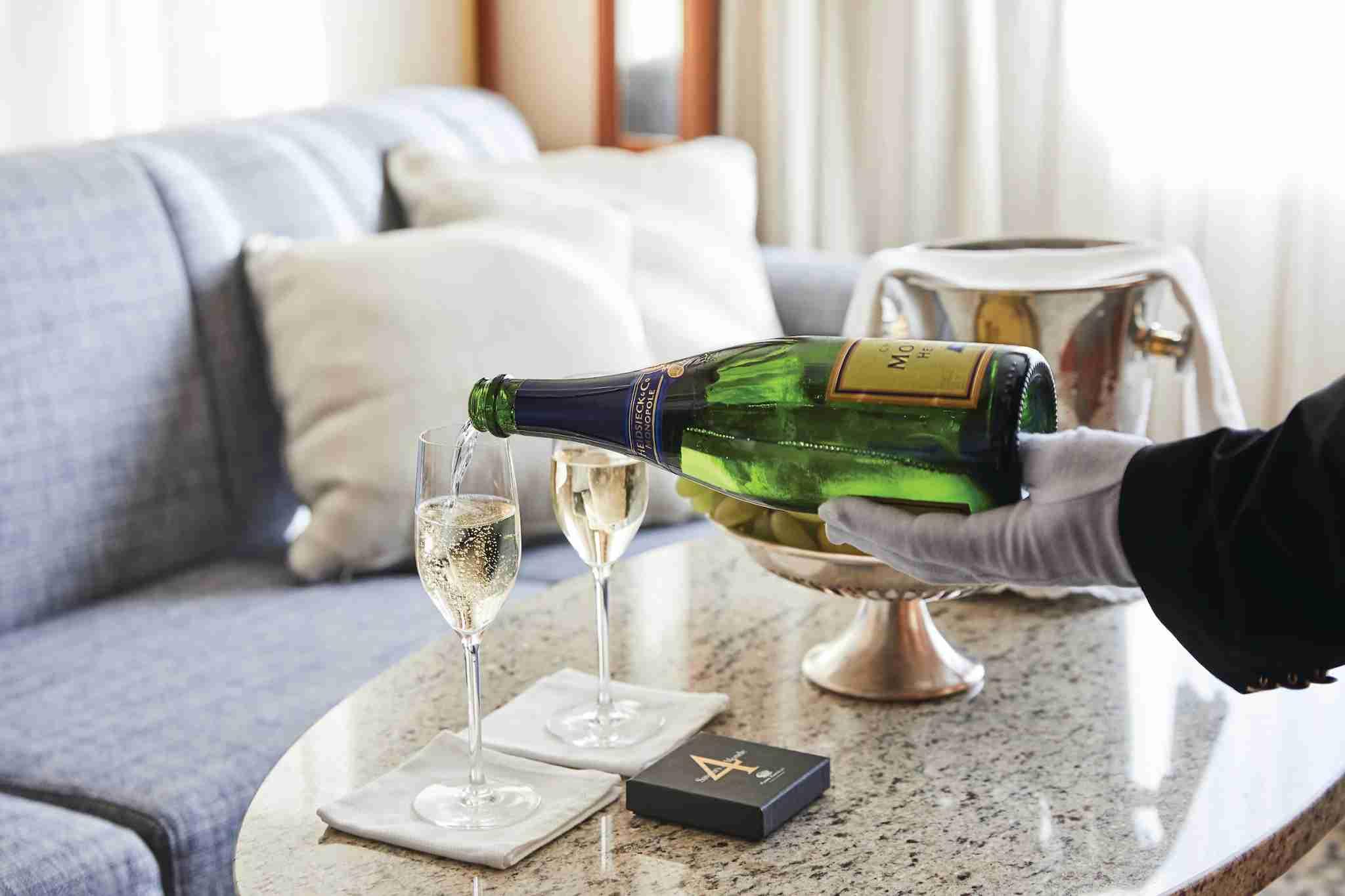 Silversea butler champagne
