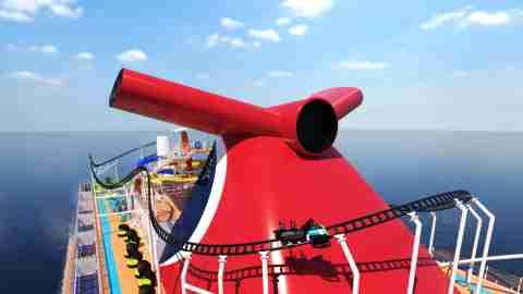 Carnival's Bolt roller coaster