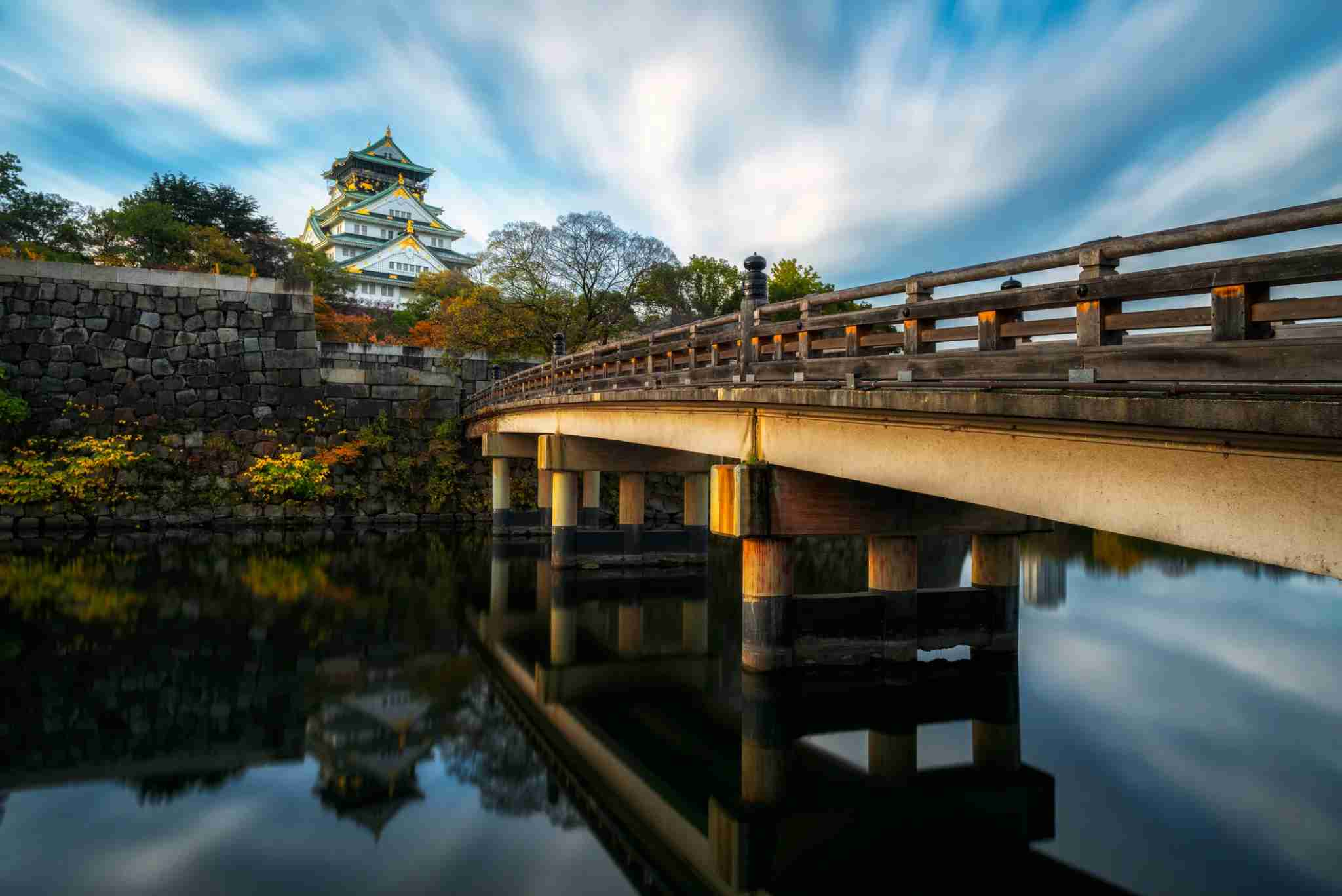 Osaka is a beautiful place to visit all year long. (Photo by 861345458 / Getty Images)